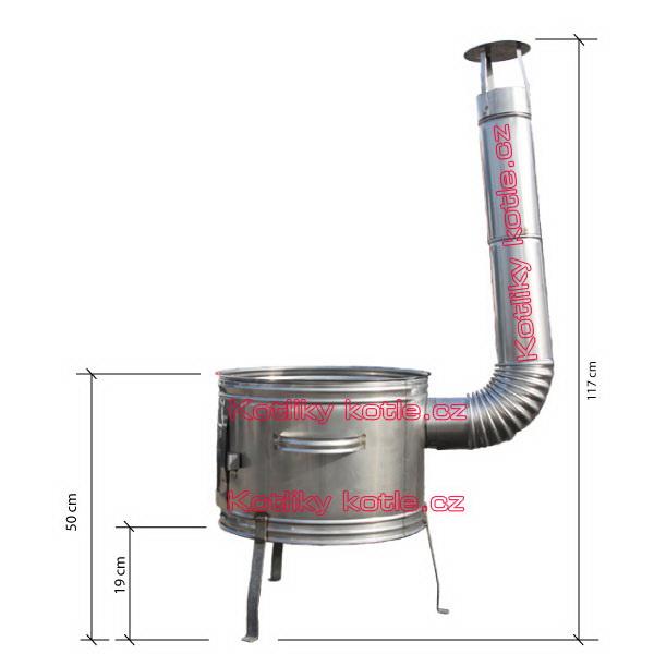 Nerezová klasická kotlina - topenište