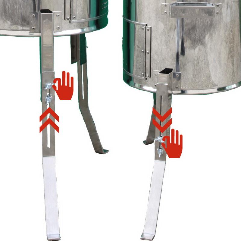 Nerezová kotlina - topenište VARIO LUXUS detail: